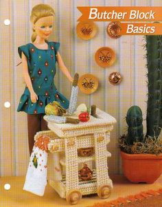 Butcher Block Basics Furniture Plastic Canvas Pattern for Barbie Fashion Doll | eBay