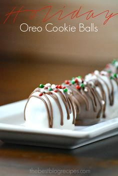 These Holiday Oreo Cookie Balls are easy to make and made with both white and milk chocolate! They are also a huge hit when you take them to parties!