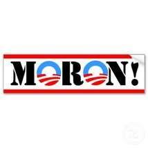 Humorous Conservative Anti Obama Republican Bumper Sticker