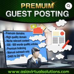 Premium Guest Posting to DA60 to DA100 Authority Sites