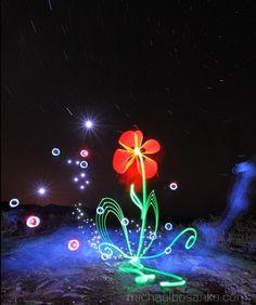 Light Art by Michael Bosanko