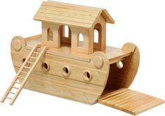 wooden toys   Noah's ark   deluxe natural wood ark