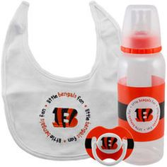 Cincinnati Bengals 3-Piece Pacifier, Bib & Bottle Gift Set