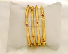 Bangles / Bracelets / Kada - Gold Jewellery Bangles / Bracelets / Kada at USD Plain Gold Bangles, Gold Bangles Design, Gold Jewellery Design, Bohemian Jewellery, Jewellery Box, India Jewelry, Jewelry Shop, Real Gold Jewelry, Gold Jewelry Simple