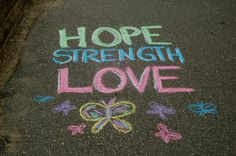 This started out as project to chalk positive sayings, messages and quotes on sidewalks in my town. Facebook Christmas Cover Photos, Chalk Pictures, Art For Kids, Crafts For Kids, Chalk Design, Sidewalk Chalk Art, Chalk It Up, Chalk Drawings, Painted Rocks