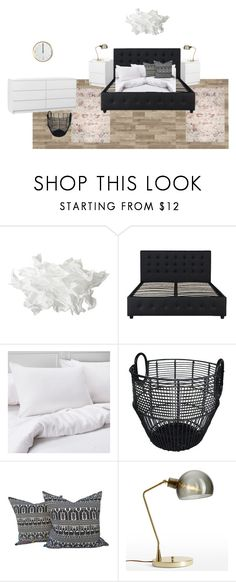 """Bedroom1"" by buzsicky-lidia on Polyvore featuring interior, interiors, interior design, home, home decor, interior decorating, Dorel, Threshold, House Doctor and bedroom"