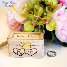 Rustic Wedding Ring Box Keepsake or Ring Bearer Box- Personalized Comes WIth Burlap Pillow. Ships Quickly. by RiverRoadRustics on Etsy https://www.etsy.com/listing/80433054/rustic-wedding-ring-box-keepsake-or-ring