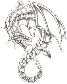 Easy Dragon Drawings, Demon Drawings, Cool Art Drawings, Art Drawings Sketches, Skull Furniture, Dragon Sketch, Tattoo Project, Dragon 2, Comic Drawing