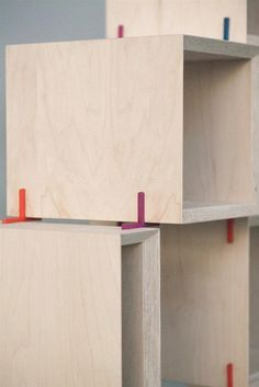 3ders.org - The + Shelf 3D printed joints let you design and construct your own modular furniture | 3D Printer News & 3D Printing News