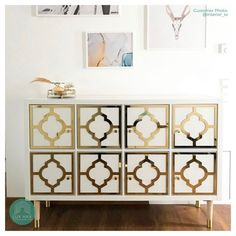 Style panel kit: # 1118 to suit IKEA Kallax – Lux Hax Furniture Makeover, Diy Furniture, Furniture Design, Ikea Kallax Unit, Hotel Bedroom Design, Gold Office Decor, Pvc Panels, Estilo Shabby Chic, Cube Shelves