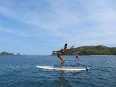 SUP Yoga in Costa Rica #StandUpPaddle #ChairPose #Yoga #YourZenYoga #CostaRica #LasCatalinas