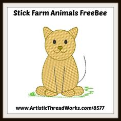 Stick Farm Animals by Loraine Meyer Forest Animals, Farm Animals, Nancy Smith, Cute Owl, Machine Embroidery Designs, Free Design, Winnie The Pooh, Sew, Retro
