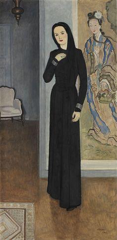 Woman in Black, 1942 by Einar Jolin (Swedish 1890-1976)