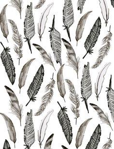 Feather Wallpaper   Jen Moules Textile Design