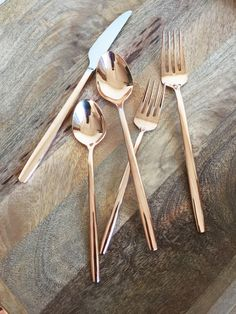 Glowing with rosy warmth, this luxe yet practical flatware set is electroplated in the gold-copper alloy known as rose gold. Sophisticated utensils have slender, smoothly rounded handles that feel lovely in the hand, adding a special glow to everyday dining or entertaining.