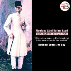Maualana Abul Kalam Azad was a child prodigy who went on to become's India 1st Education Minister and one of the finest scholars our country ever produced. We wish the Bharat Ratna Laureate a very Happy Birthday on his birth anniversary.  #abdulkalam #bharatratna #daysoftheyear