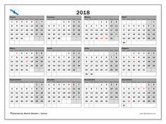 Calendario para imprimir  2018 - Días festivos en Galicia