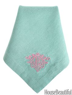 Monogrammed Linen Napkins - Personalized Dinner Napkins - available in 101 colors!