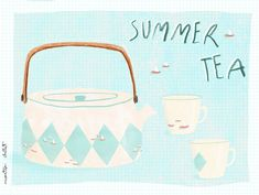 picnicmonsummer tea, by * inspired by the amazing but with my own pattern 😉 * based on the beautiful tea tins teapot Fortnum And Mason, Tea Tins, Marimekko, Illustration Artists, Hygge, Teapot, Ocean, Cold, Inspired