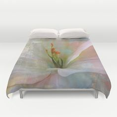 Painted Lily Duvet Cover by Judy Palkimas - $99.00