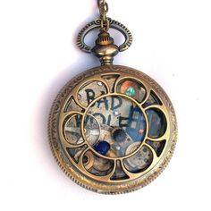 Doctor Who Pocket Watch Necklace Rose Tyler by TimeMachineJewelry