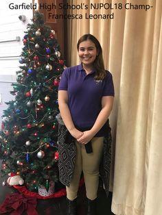 Poetry Out Loud School Champ from Garfield High School, Francesca Leonard - NJPOL 2018!