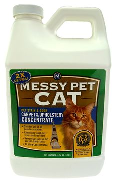 MESSY PET Pet Stain and Odor Carpet and Upholstery 2x Ultra Concentrate, 48 Ounce >> Stop everything and read more details here! : Cat litter