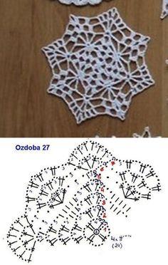 Miniature crochet round doily in white inches Crochet Snowflake Pattern, Crochet Motif Patterns, Crochet Doily Diagram, Crochet Snowflakes, Crochet Blocks, Crochet Mandala, Crochet Chart, Crochet Squares, Thread Crochet