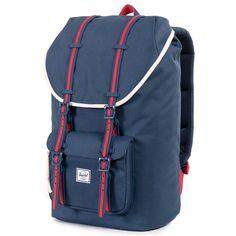 "Herschel Little America Backpack ""Home"" - Red/White/Blue – ShopNiceKicks.com"