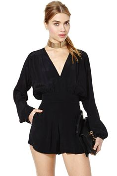Motel Jet Romper | Shop Clothes at Nasty Gal- you could really dress this up