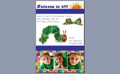 Very Hungry Caterpillar Party Invitations #Birthday