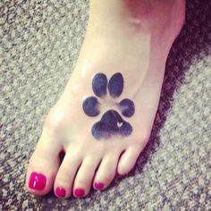 Tattoo of my dog's actual paw print that I'll cherish forever <3