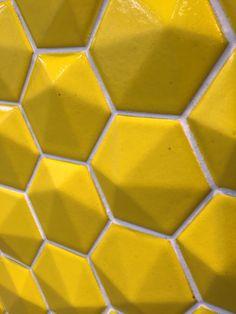 Yellow tiles Cersaie 2015
