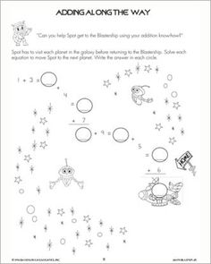 This math worksheet for preschoolers is meant to help kids