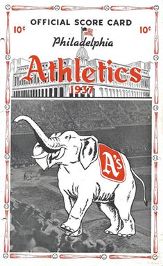 The A's and Their Elephants, Together Since July 10, 1902 — Todd Radom Design Philadelphia Athletics, Oakland Athletics, Elephant Trunk, Elephant Logo, Team Uniforms, American League, Team Names, New York Giants, Visual Identity
