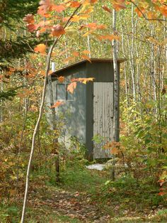 Don't forget the bug spray and flashlight when using the outhouse at night.