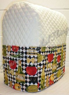 Cream Quilted Italian Kitchenaid 7 & 8qt Lift Bowl Stand Mixer Cover w/Pockets | eBay