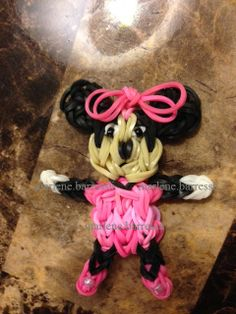 Another MINNIE MOUSE for Rainbow Loom designed and loomed by Marlene Barressii. Click on photo for YouTube tutorial.