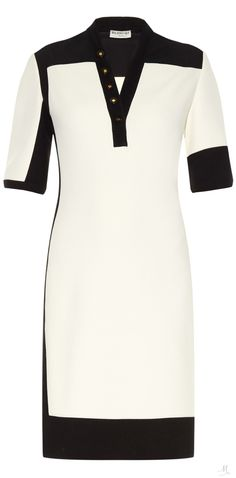 BALENCIAGA Graphic Line bi-colour dress