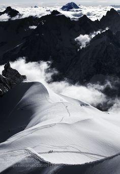 chamonix mont blanc by RenatasNeverbickas  France People alpes chamonix mont blanc mountain mountains snow winter Montbla RenatasNeverbickas