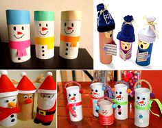Toilet paper roll characters