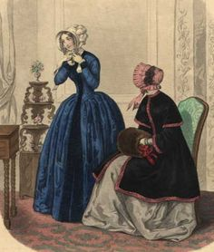 This fashion plate from 1848 shows a ruffled brim.