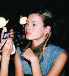 Kate moss backstage @marcjacobs