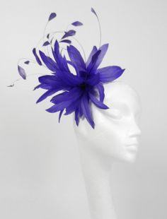 Purple  Fascinator Hat for Kentucky Derby by Hatsbycressida, $80.00