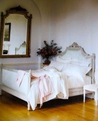 The questions keep pouring in about how mirrors affect you in your bedroom, and why Feng Shui advises against them. in bedroom feng shui Feng Shui Bedroom Mirror, Feng Shui Mirrors, French Decor, French Country Decorating, Antique Bedroom Furniture, Beautiful Bedrooms, Beautiful Beds, Shabby Chic Homes, Dream Bedroom