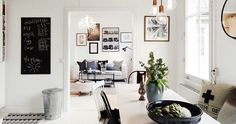 my scandinavian home: A Swedish city pad in monochrome and copper