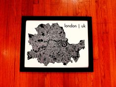 Just in time for the Summer Olympics!  London Map Art City Print 18 x 24 by MrCityPrinting on Etsy