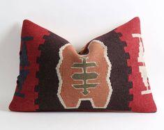 16x24 kilim pillow cover, handmade pillow, bohemian pillow, kilim lumbar pillow cover