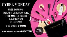 Cyber Monday starts on Sunday for Avon lovers!!! www.youravon.com/LCRAYTON #onlinedeals #cybermonday