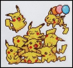 Pikachu Cross-Stitch... makes me want to learn how to do that!